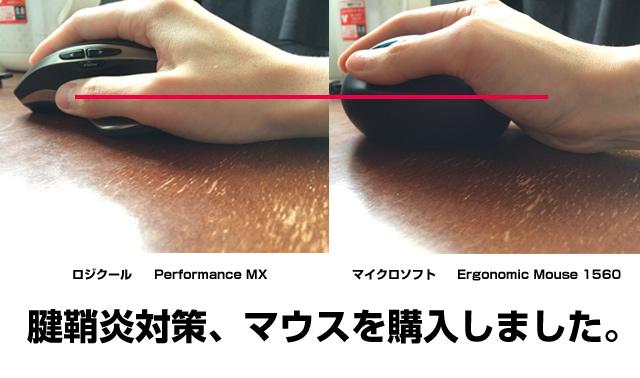 腱鞘炎防止・対策マウスを購入。L6V-00008(1560)