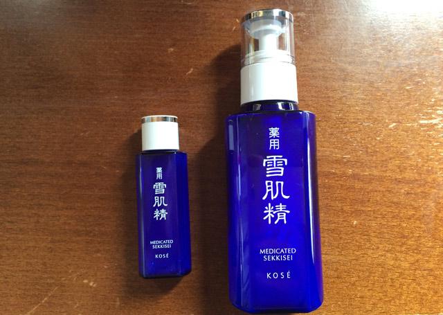左:化粧水、右:乳液