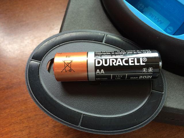付属の単三電池は中国製