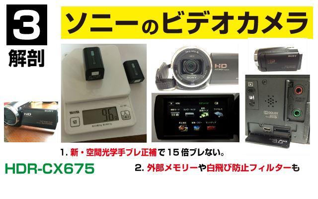 3.HDR-CX675を買いました。