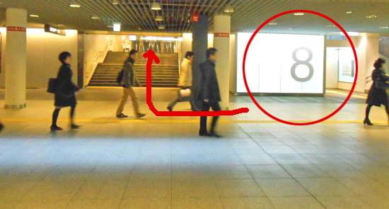 札幌グランドホテルを地下歩行空間から行く