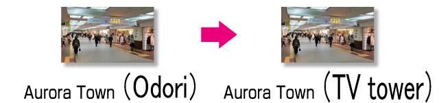 underground mall Aurora Town Odori → TV tower