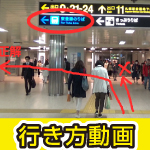 どう行くの?東豊線札幌駅から、きたえーるまでの行き方動画