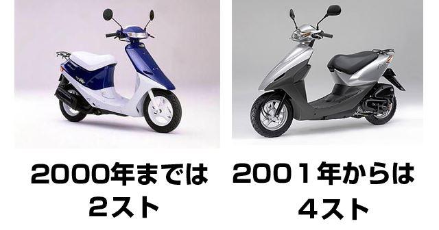 2000年が、2スト → 4ストの目安