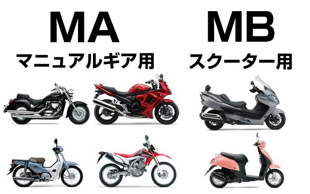 ミッションはMA、スクーターはMBを。