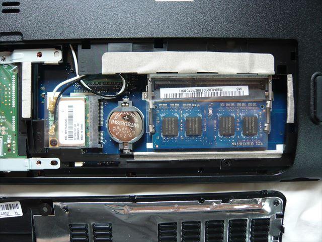 電池はCR2032 メモリはDDR3