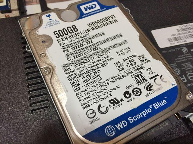 WD5000BPVT  500GB