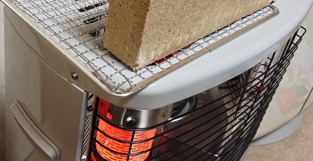 耐熱レンガで余熱暖房