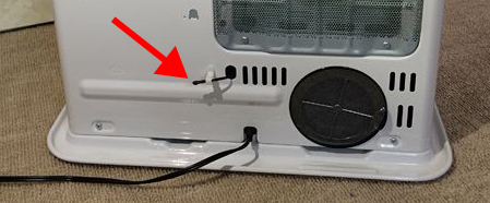 温度センサーは低い位置に付いている