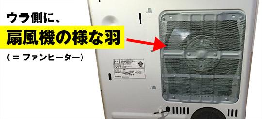 ファンヒーターの仕組み