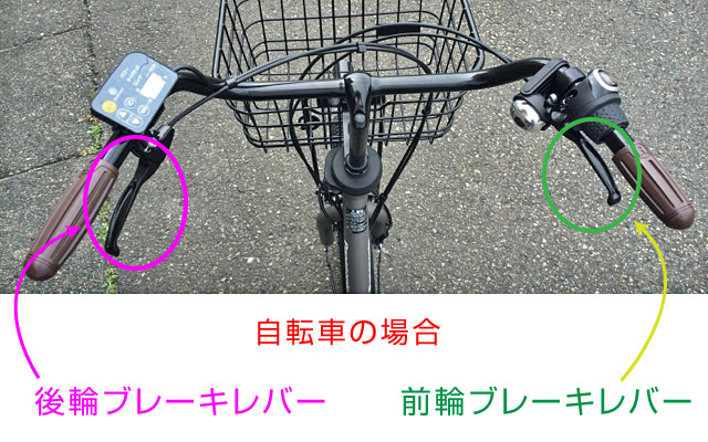 自転車のブレーキレバー