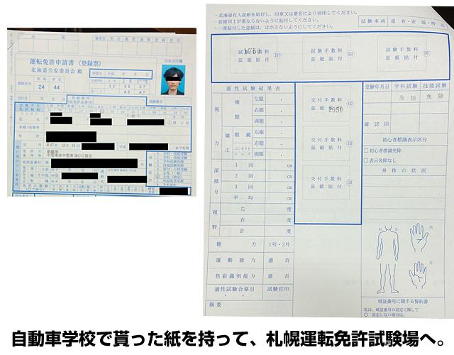 免許更新の申請書類