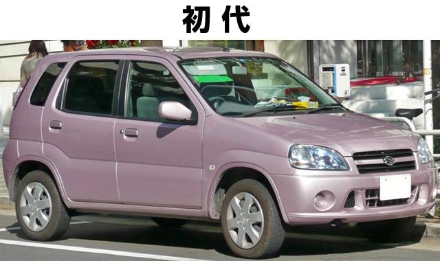 初代スイフトは軽自動車のkeiの大きいバージョン