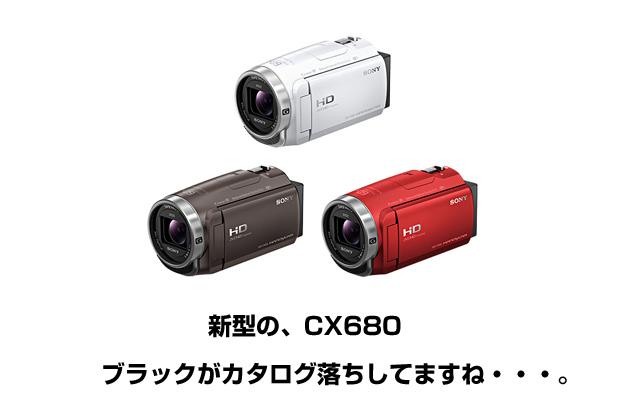 新型のHDR-CX680