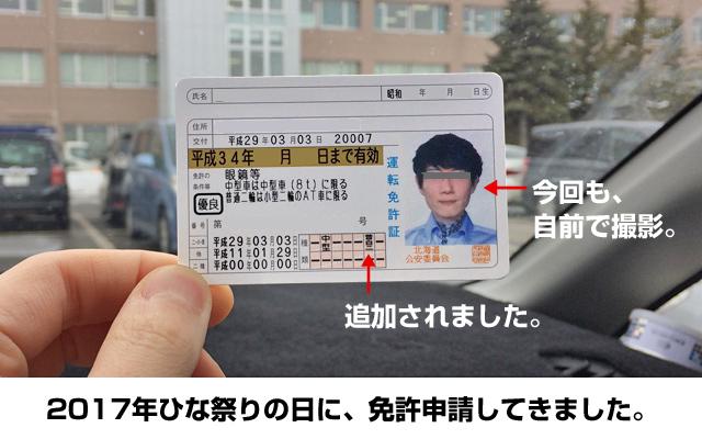 運転免許証で年齢確認。
