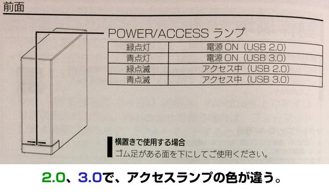 パワー、アクセスランプ