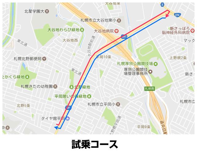 スズキアリーナ平岡 試乗コース
