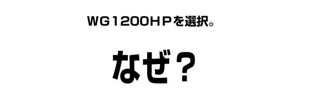 WG1200HPをなぜ購入したのか