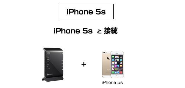 iPhone5Sと接続