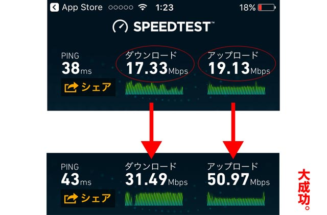 SPEEDTEST アプリ