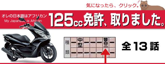 125cc免許取りました