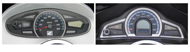 メーターの形状も初代と2代目PCXは異なる