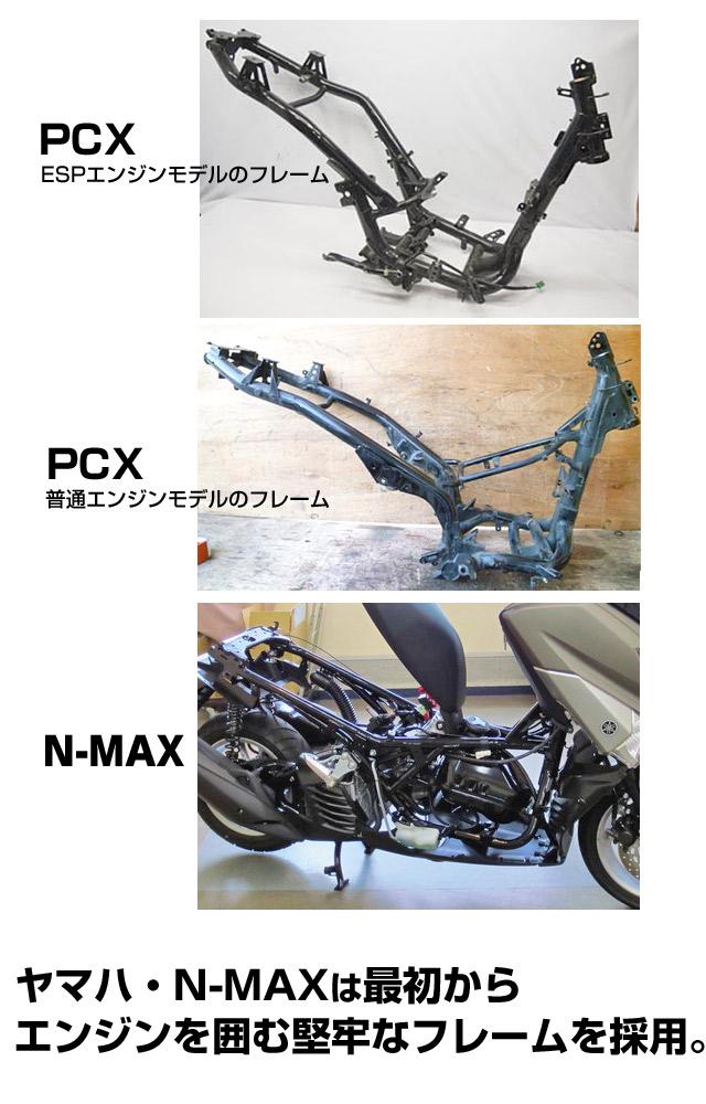 N-MAXはフレームが堅牢・頑丈・ねじれに強い