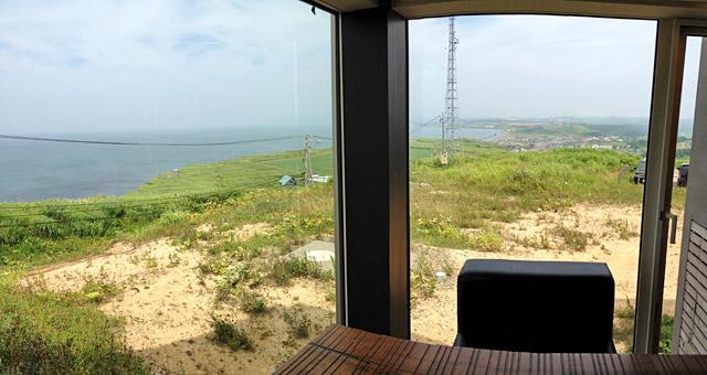 厚田区の海を一望できます