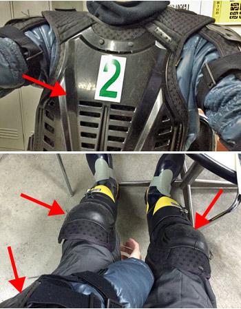 バイクジャケットのプロテクション