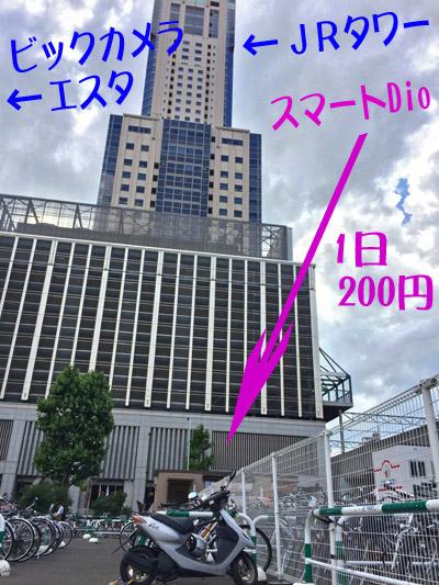 札幌レールパーク駐車場に駐車