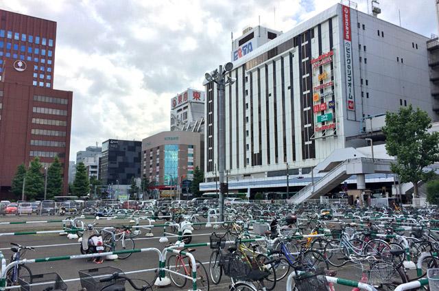 札幌駅横の駐輪場