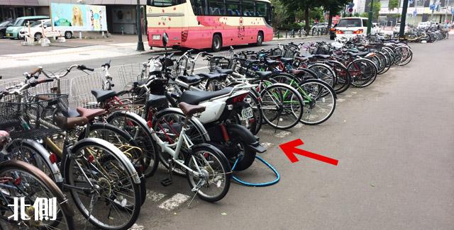 自転車専用なので原付を停めてはダメ