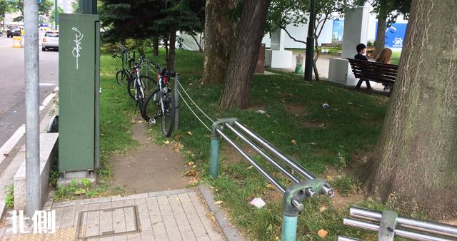 自転車も駐輪