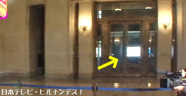 中央玄関は開かずの扉?