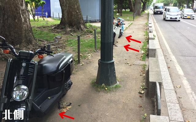 5丁目からバイクが減ります。