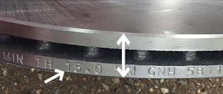 ローターの厚みが規定値以下