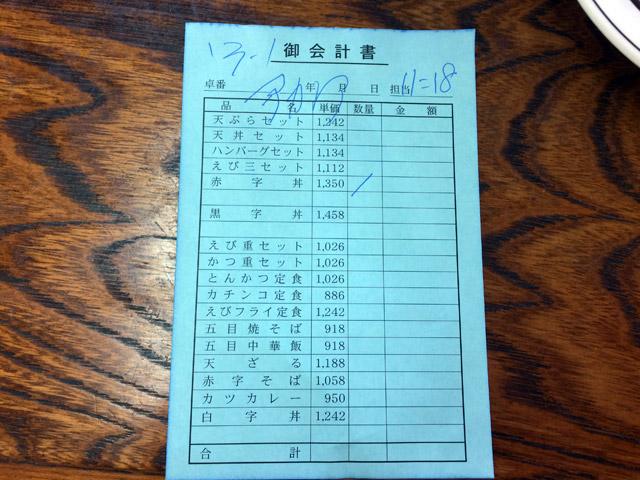 赤字丼 1,350円