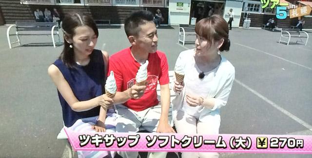 ツキサップ直売所のソフトクリーム
