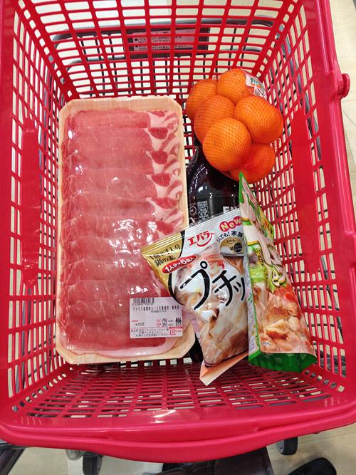 豚ロース肉とプチッと鍋