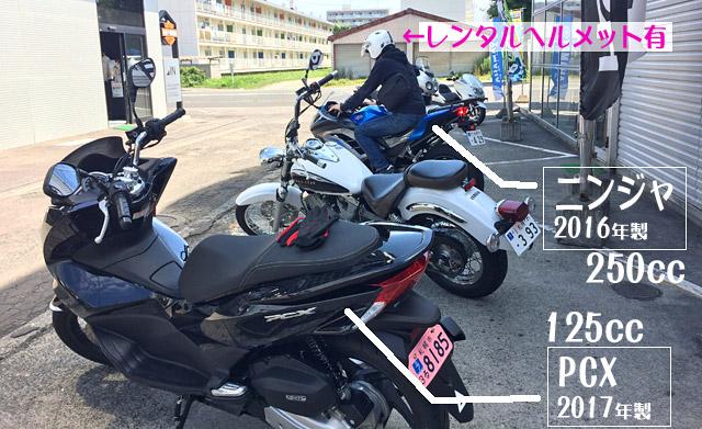 PCX125ccとニンジャ250cc
