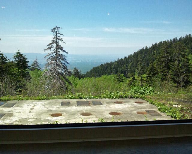 食堂からの絶景。