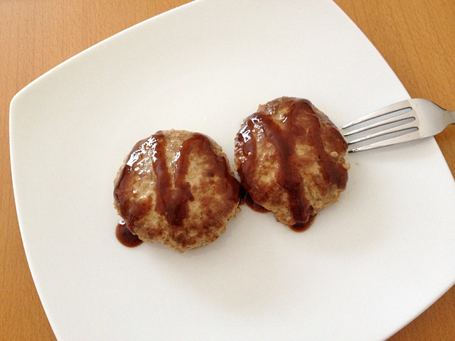 カタチも美味しそうなハンバーグ