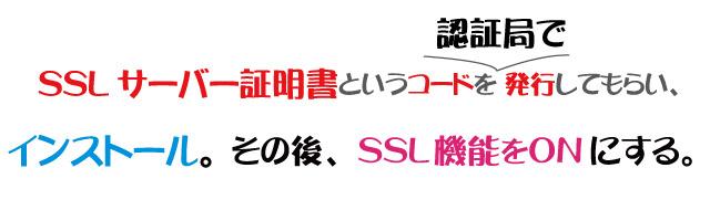 SSLサーバー証明書の発行が必要