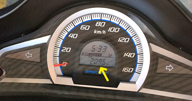 今回の走行距離 209.6km