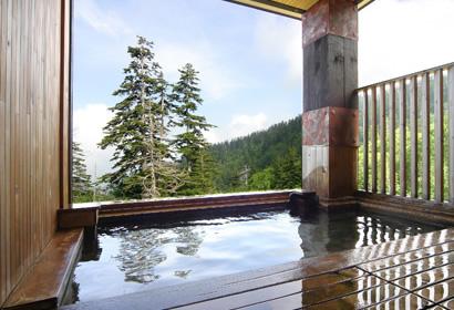 食後の温泉。