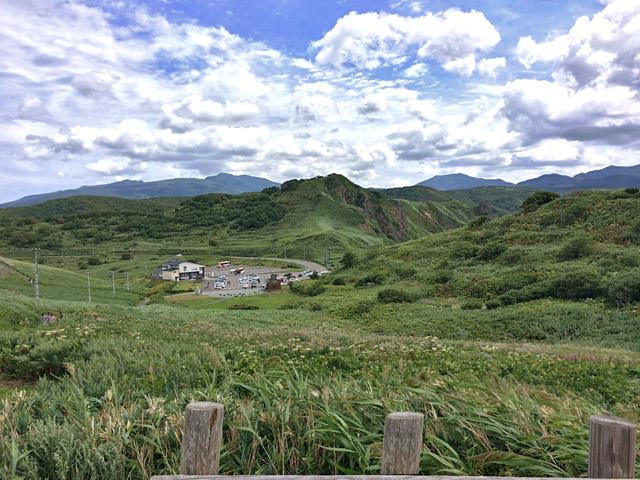 北海道の山々が。圧巻。