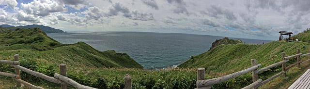 日本海が広がります。
