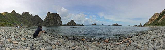 積丹岬。キレイな海です。