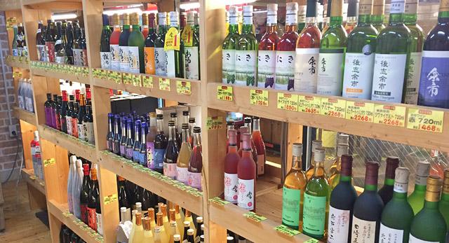 余市産のワインが多い。