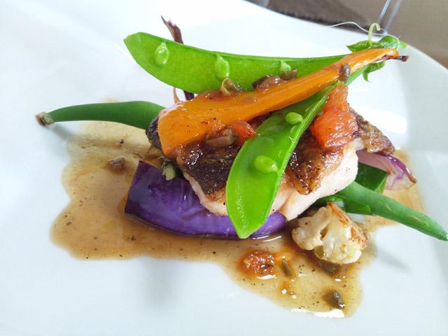 肉厚タラ魚と野菜のソテー